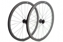 Kaze Disc 28mm(wide) Chris King R45 built tubeless wheel set 24H/24H